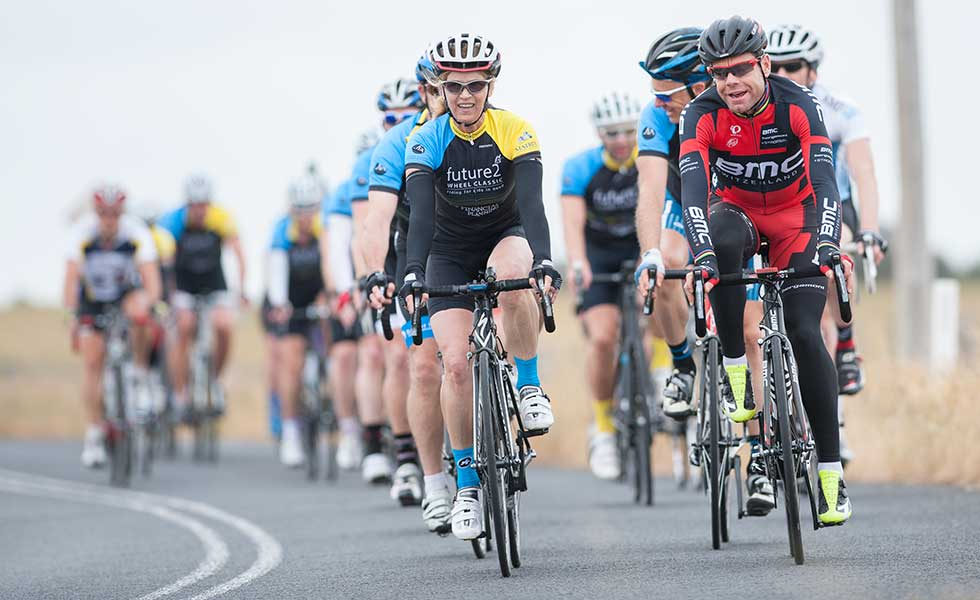 Cadel Evans Road Cycle with group