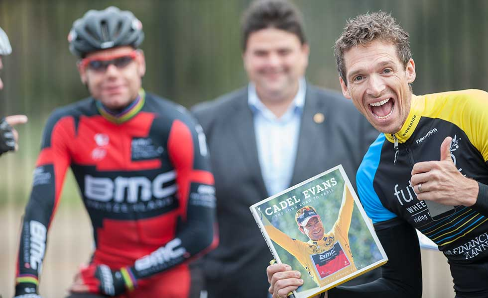 Cadel Evans Book The Long Road To Paris signed