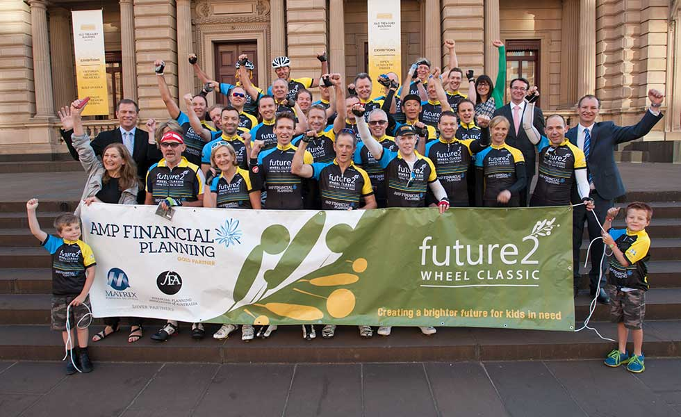 Future 2 Bike Ride Start at Parliament House