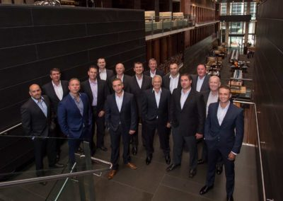 Corporate group photograph